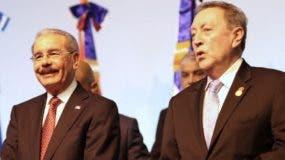 El presidente Danilo Medina cuando participaba en cumbre del Sica.  fuente externa