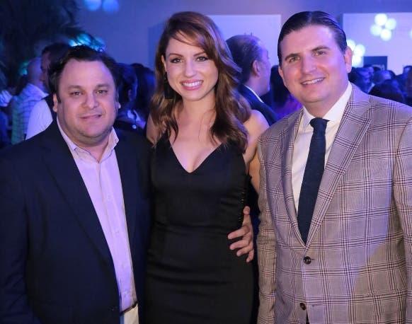 Jacinto Peynado, Lorena Pierre y Andrés Marranzini.