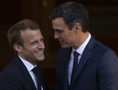 El presidente Pedro Sánchez recibió a Emmanuel Macron.
