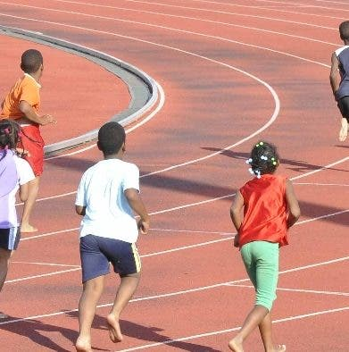 La pista de atletismo del complejo de Bayaguana.