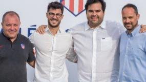 Javier Vidales, Fernando López, Alejandro Leandro y Rodrigo  Real,  ejecutivos de la Academia Atlético de Madrid en RD.