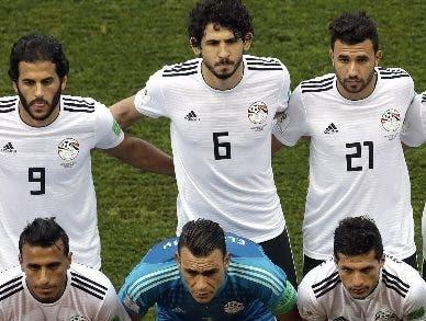 Jugadores de la selección de Egipto.