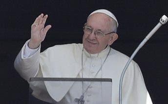 El papa Francisco durante su discurso.