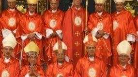 Monseñor Francisco Ozoria junto a los demás miembros de la Conferencia del Episcopado.  a. Calvo