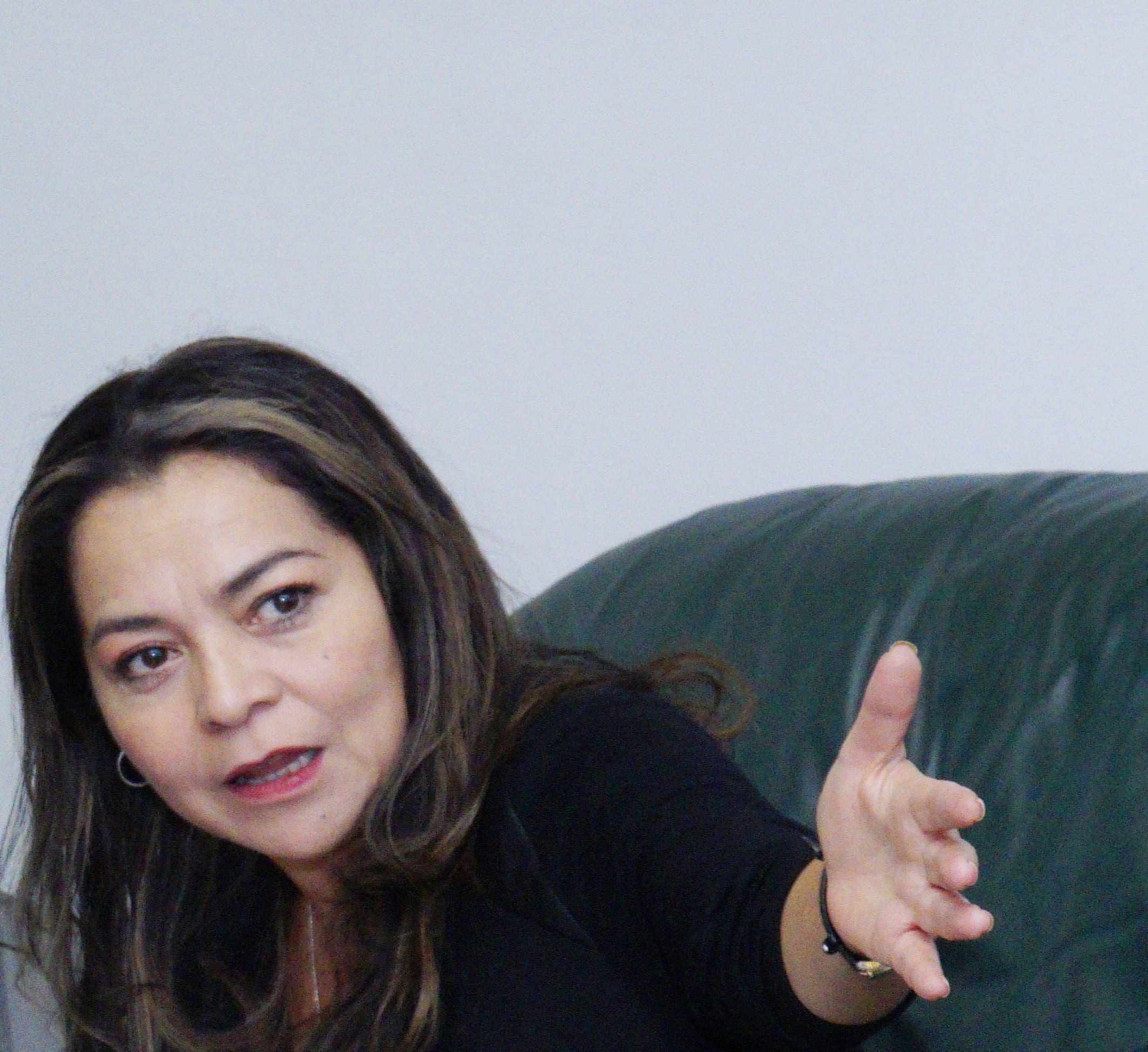 Aleida Calleja está de visita en el país para impartir una seríe  de talleres  sobre ley de medios y su relevancia para RD ,   dirigidos a periodistas  .  Elieser Tapia.