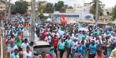 Miles de personas participaron en la marcha a favor de las despenalización del aborto en tres causales.