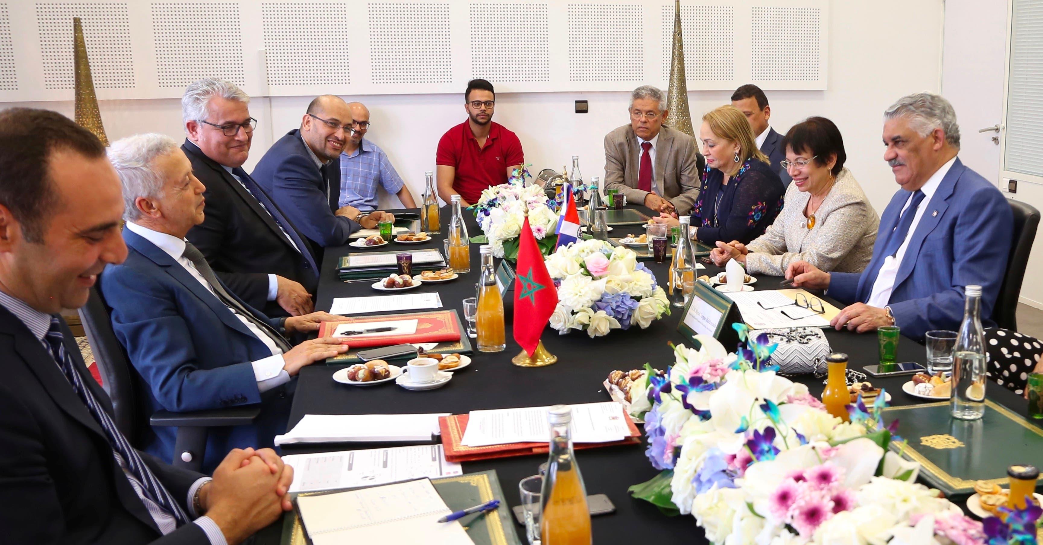 Miguel Vargas sostuvo un encuentro con el ministro de Turismo y Transporte Aéreo de ese país, Mohamed Sajid.