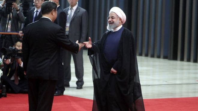 El 10 de junio de 2018, el presidente de China, Xi Jinping, y el de Irán, Hassan Rouhani, se reunieron en el consejo de jefes de estado de la Organización de Cooperación de Shanghái.