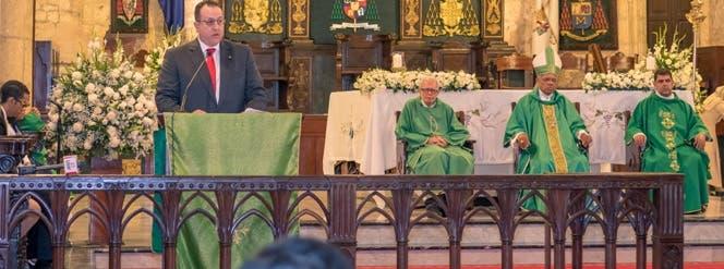 Magín Díaz habló del tema durante un discurso en la celebración del aniversario de la DGII.