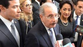 Danilo Medina dijo que vuelve el patrullaje mixto de la Policía y las Fuerzas Armadas para enfrentar la ola de delincuencia. Foto: Mario Terrero/El Nacional.