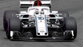 El piloto de Sauber Charles Leclerc de Mónaco conduce su auto durante la sesión de calificación en el circuito de Hockenheimring en Hockenheim, Alemania, el sábado 21 de julio de 2018. El Gran Premio de Fórmula Uno de Alemania se llevará a cabo el domingo 22 de julio de 2018. (AP Photo / Jens Meyer)