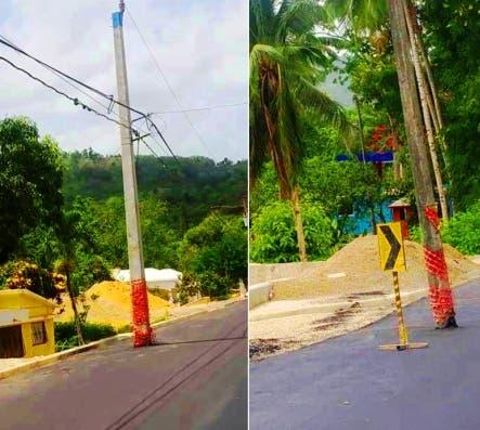 postes-electricos-en-medio-de-carretera-turistica-representan-un-peligro-para-conductores-de-vehiculos-y-motociclistas