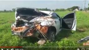 En estas condiciones quedó el vehículo involucrado en el accidente.