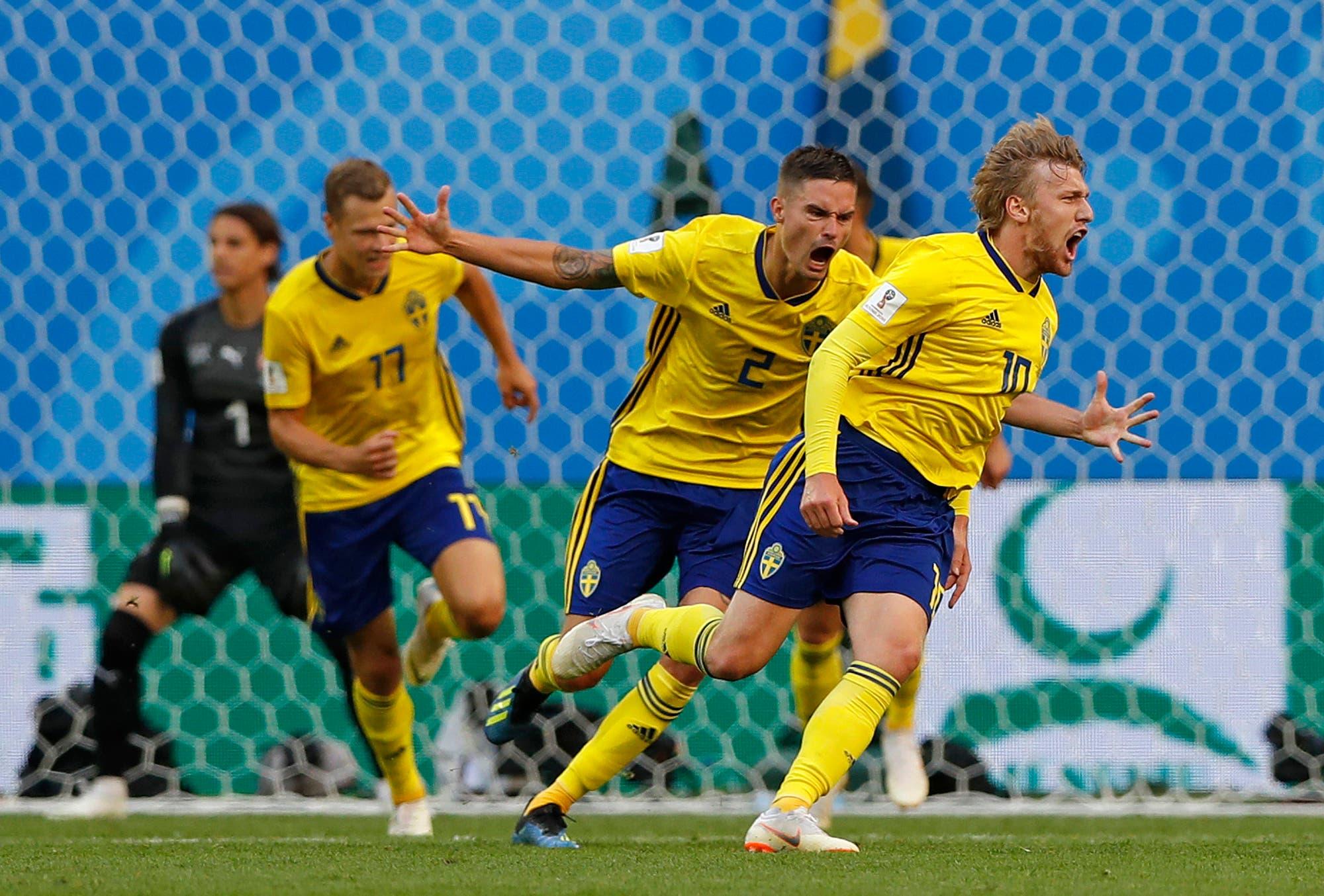Suecia gana 1-0 a Suiza y se clasifica a cuartos 24 años después