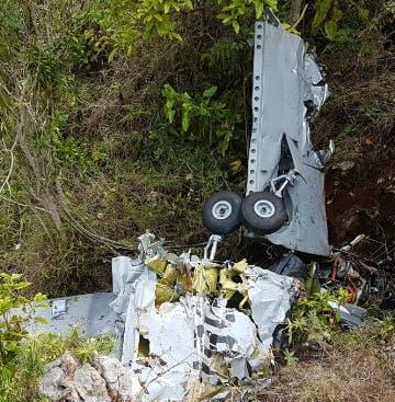 Parte de la aeronave siniestrada.