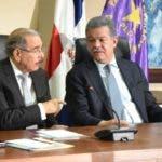 Reinaldo Pared Pérez,   Danilo Medina, Leonel Fernández y Margarita Cedeño en la reunión del Comité Político.  archivo