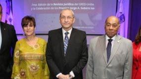 Julio Amado Castaños, Francia de Subero, Jorge A. Subero Isa, Milton Ray Guevara y Katia  Jiménez.