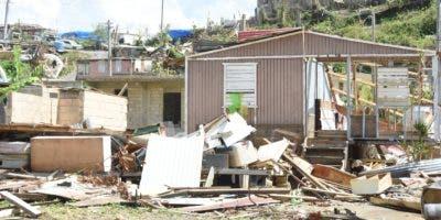 Estado en que quedaron estas viviendas tras el paso de María por Puerto Rico.  Alberto calvo