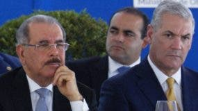 El presidente Danilo Medina y Gonzalo Castillo.  José de León.