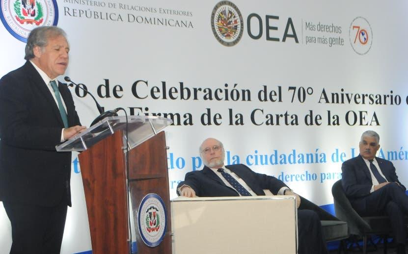Luis Almagro, Pedro Vergés y Miguel Vargas.  nicolás monegro
