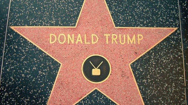 Piden retirar la estrella de Trump en el Paseo de la Fama