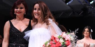 Melkis Díaz y Micaela Oliveira al cierre del evento.