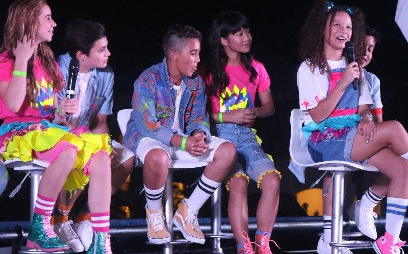 Los integrantes de Kidz Bop  durante una rueda de prensa.