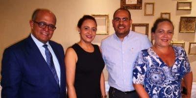 José Silié Ruiz, Evelyn María, Osiris Valdez y Dayana Gallardo.