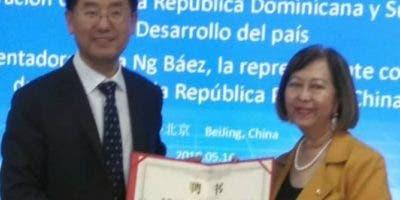 Huang Taiyan y Rosa NG Báez.