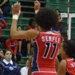 Las jugadoras dominicanas celebran un triunfo.