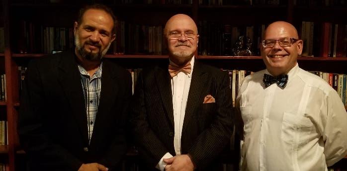 Dionys Díaz, Angel Luis Fernández y Adán Benedetti, en la rueda de prensa.