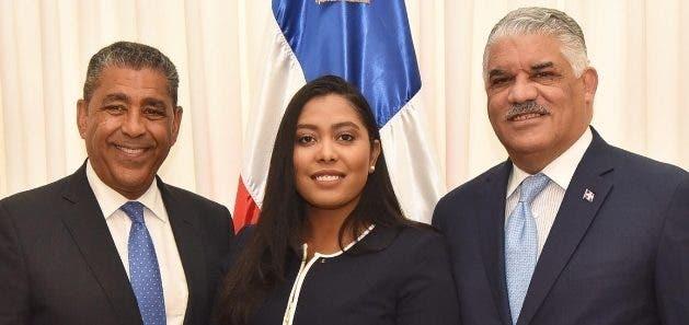 Adriano Espaillat, Juana Matías y Miguel Vargas Maldonado.