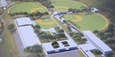 Maqueta del diseño de la construcción del nuevo complejo deportivo de los Diamondbacks de Arizona en Boca Chica.