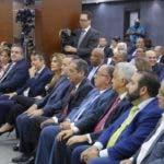 El presidente de la JCE, Julio César Castaños Guzmán, en un encuentro con representantes de los partidos. ELIESER TAPIA.