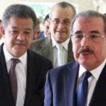 El presidente Danilo Medina junto al expresidente Fernández, en unas de las reuniones del PLD.