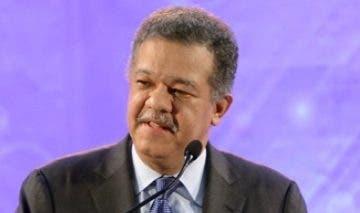 Leonel Fernández, expresidente de República.  archivo