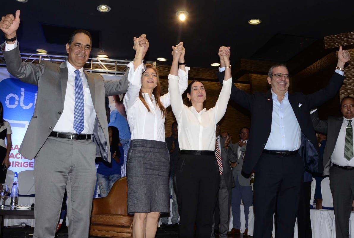 El pre candidato  presidencial del PRM durante el acto en el hotel Lina. JOSÉ DE LEÓN.