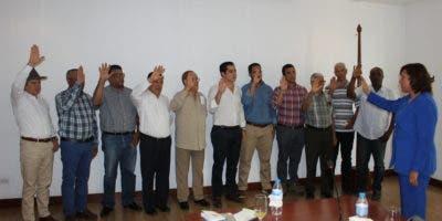 Nuevos miembros de la Junta Directiva de la Cámara Forestal Dominicana durante su juramentación.