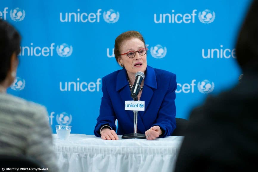 Directora ejecutiva de Unicef, Henrietta Fore.