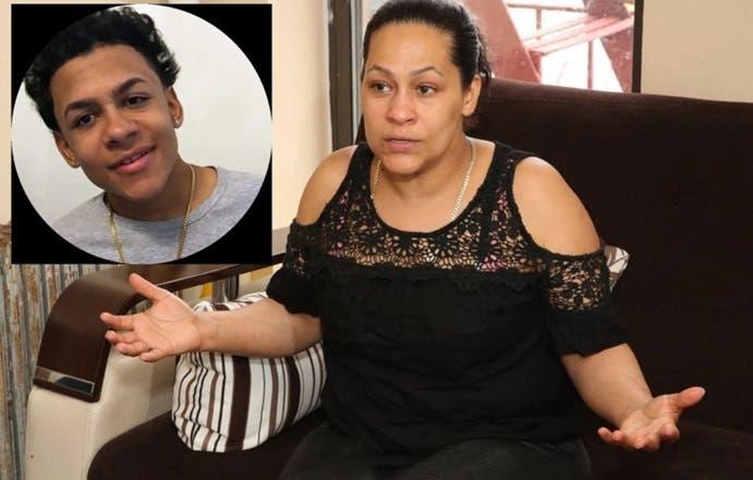 Lexandra Félix, madre de Lisandro Guzmán Féliz, que se siente agradecida por la solidaridad y el apoyo masivo de neoyorquinos y ciudadanos de otros estados.