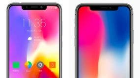 Spot the difference: the P30 and iPhone X