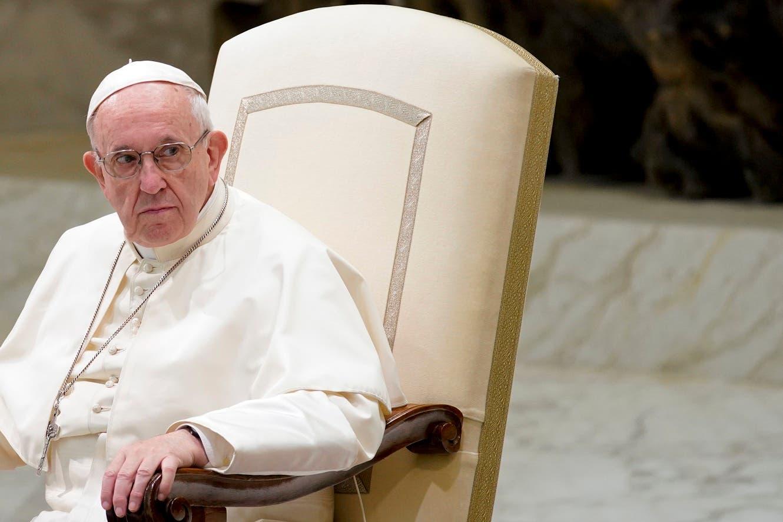 El papa Francisco realiza su audiencia semanal general en el Vaticano el miércoles, 22 de agosto del 2018.  (AP Photo/Andrew Medichini)