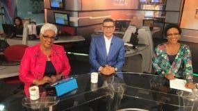 Altagracia Salazar, Ricardo Nieves y Edith Febles, en una de las últimas entregas del programa Enfoque Matinal, que se difunde por CDN, canal 37.