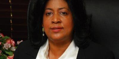 Cristina Lizardo, senadora del PLD.  archivo