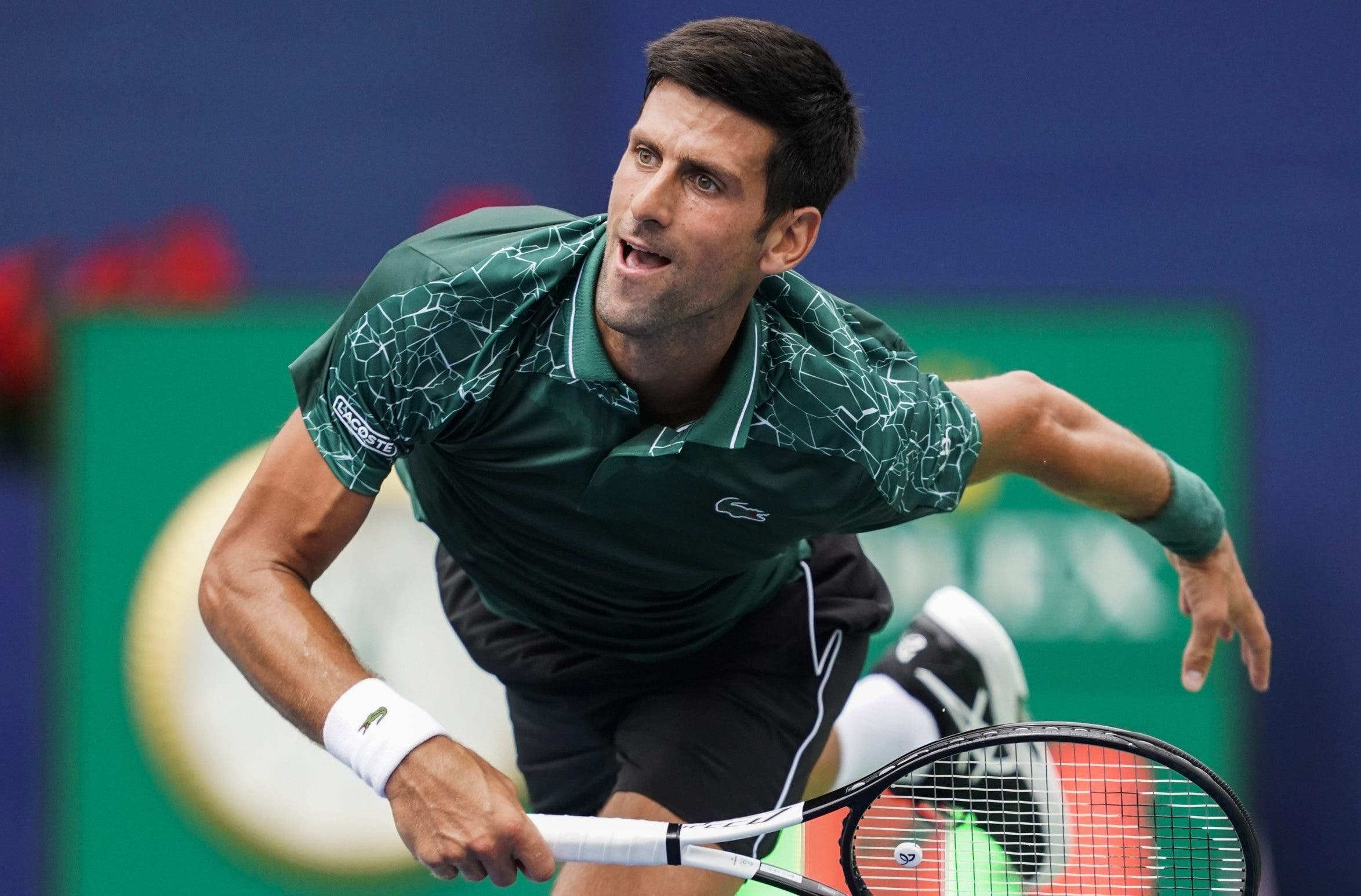el serbio Novak Djokovic en la final del US Open.