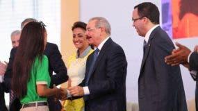 El presidente Danilo Medina encabezó el acto para el inicio del año escolar 2018-2019.