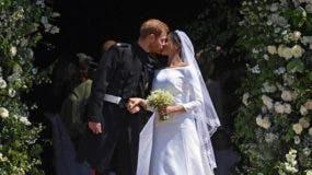 Meghan y Enrique el día de su boda.