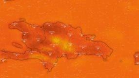 Este mapa indica cómo estaba la temperatura a las 10:35 de la mañana de este miércoles 8 de agosto 2018.