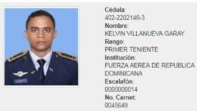 El primer teniente Kelvin Villanueva Garay era el piloto de la aeronave., quien falleció en el accidente.