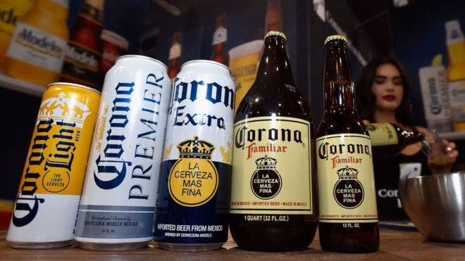 Cerveza Corona-marihuana